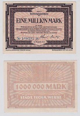 1 Million Mark Banknote Inflation Städt.Techn.Werke Leipzig  20.08.1923 (120132)