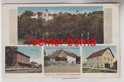 76294 Mehrbild Ak Gruss aus Reuth bei Erbendorf Bahnhof usw. 1922