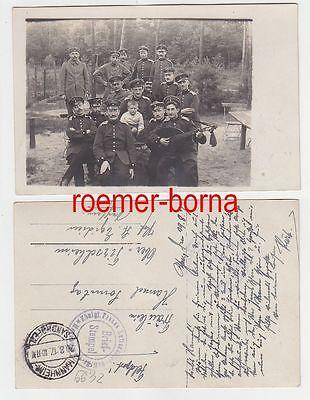 69702 Foto Ak Königl. Preuss. Luftschiffer Batl. 44 Mannheim 1917