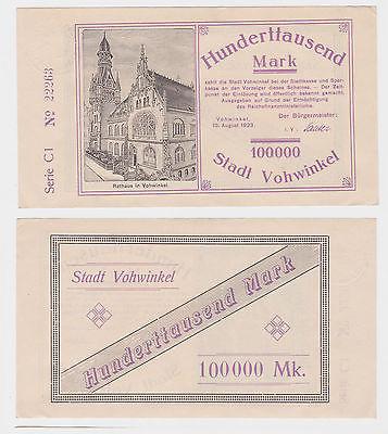 100000 Mark Banknote Stadt Vohwinkel 10.08.1923 (121983)