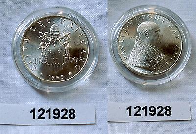 500 Lire Silber Münze Vatikan 1963 Johannes Paulus Vi 121928 Nr
