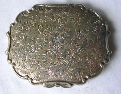 Hübsches versilbertes Etui für Taschenspiegel um 1930 (118983)