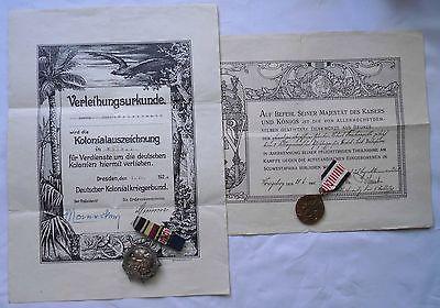 2 seltene Orden mit Urkunden der Kolonie Deutsch Südwest Afrika (113537)