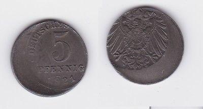 5 Pfennig Eisen Münze Deutsches Reich 1921 E Fehlprägung Jäger 297