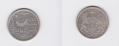 1 Gulden Silber Münze Freie Stadt Danzig 1923 (117091)