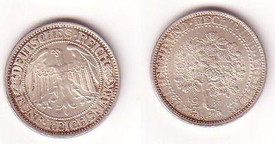 5 Mark Silber Münze Weimarer Republik Eichbaum 1931 A Mu0685 Nr