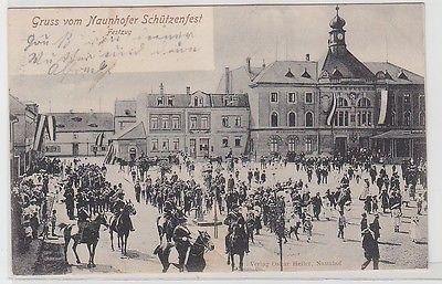 66872 Ak Gruss vom Naunhofer Schützenfest Festzug 1905