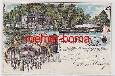 74683 Ak Lithografie Gruss vom Neuen Krug b. Rahnsdorf 1905