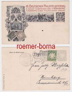 82149 Ak Ganzsache 18. Deutscher Philatelistentag Nürnberg 1906
