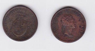 2 Schilling Kupfer Münze Dänemark 1811 119582