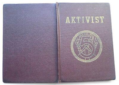 DDR Ausweis zum Aktivist des 5 Jahrplan 1954 Bitterfeld (111319) 0