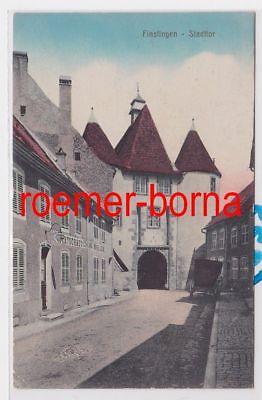 85654 Ak Finstingen Fénétrange Stadttor und Gastwirtschaft 1918