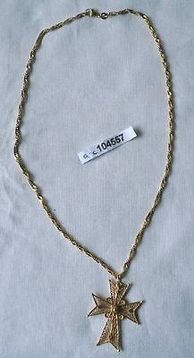 Schöner Kettenanhänger Kreuz 585er Gold mit Kette 333er Gold (104557)
