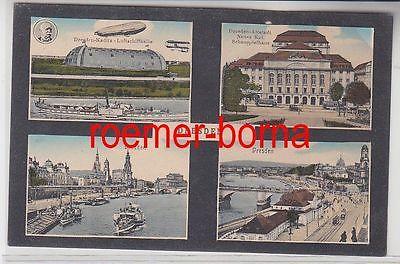 70136 Mehrbild Ak Dresden Luftschiffhalle Kaditz, Schauspielhaus usw. 1915