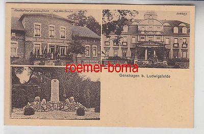 54519 Mehrbild Ak Genshagen b. Ludwigsfelde Gasthof zur grünen Linde usw. 1928