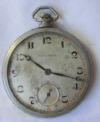Alte Schweizer Herren Taschenuhr Marke Louis Grisel um 1930 (109173)