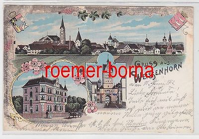 77629 Ak Lithographie Gruß aus Weissenhorn Villa Zimmermann usw. 1902