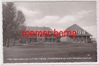 86119 Ak Hermannsburg Lüneb. Heide Niedersächs. ev.-luth. Volkshochschule um1950