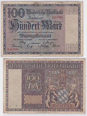 100 Mark Banknote Bayerische Notenbank München 1.1.1922 (121761)