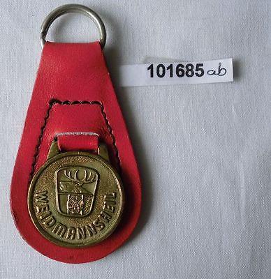 Schlüsselanhänger mit Plakette Weidmannsheil Jagdgesellschaften der DDR (101685)