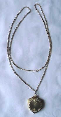 Hübsche Damenuhr Sowjetunion als Medaillon für Halskette (116973)