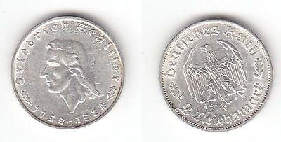 2 Mark Silber Münze Friedrich Von Schiller 1934 F 111738 Nr