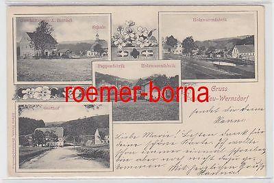 74954 Mehrbild Ak Gruss aus Neu-Wermsdorf Geschäftshaus A. Barthel usw. 1903