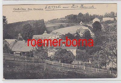 74528 Ak Groß-Ölsa Bezirk Dresden Totalansicht 1925