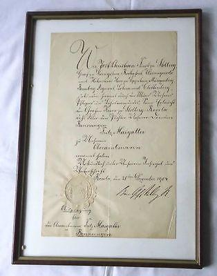 Bestallungsurkunde mit Autograph vom Fürst zu Stolberg 1904 (116778)