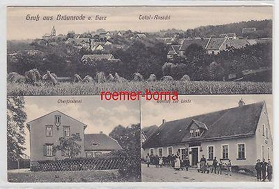 75767 Mehrbild Ak Gruß aus Bräunrode am Harz Gasthof zur Linde um 1920