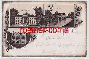 74099 Mehrbild Ak Gruss aus Wörlitz Herzogl. Schloss, Gothisches Haus 1895