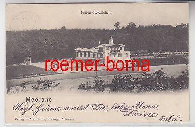 79327 Ak Meerane Ferien Kolonieheim 1901