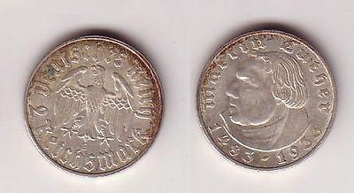 2 Mark Silber Münze Martin Luther 1933 E Jäger 352 102285 Nr