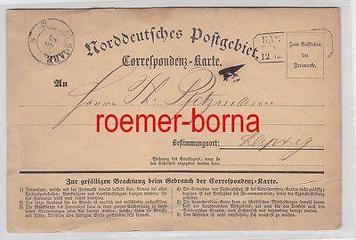75508 Correspondenz Karte Norddeutsches Postgebiet vor 1900