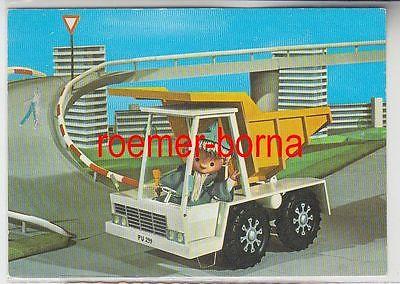 8265 Ak Sandmann im Kipplader Deutscher Fernsehfunk Fernsehen DDR 1973