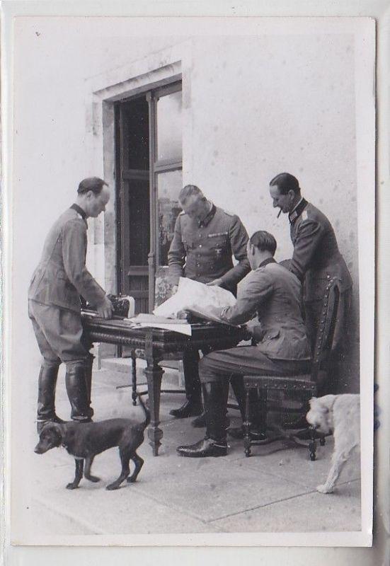 57934 Original Foto Stab des Generalmajor Kurt Herzog im 2.Weltkrieg