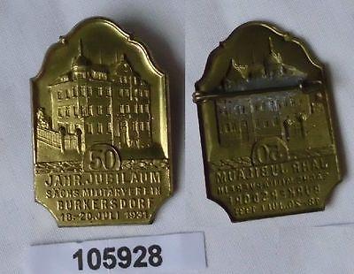 Abzeichen 50jähr.Jubiläum sächsischer Militärverein Burkersdorf 1931 (105928)