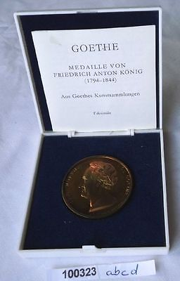 DDR Medaille Johann Wolfgang von Goethe MDCCCXXVI im Etui (100323)