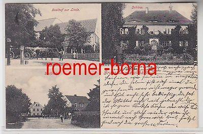 78167 Mehrbild Ak Gruß aus Leichnam Gasthof zur Linde, Schloß, Dorfplatz 1911
