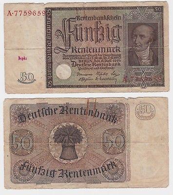 50 Rentenmark Banknote Deutsches Reich 6.7.1934 Rosenberg 165 (120723)