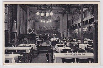 85944 Ak Leipzig Restaurant Mathäserbräu Innenansicht 1937