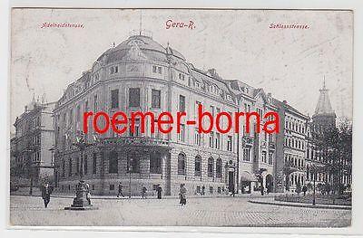 83289 Ak Gera Reuss Adelheid- Ecke Schloßstrasse 1925
