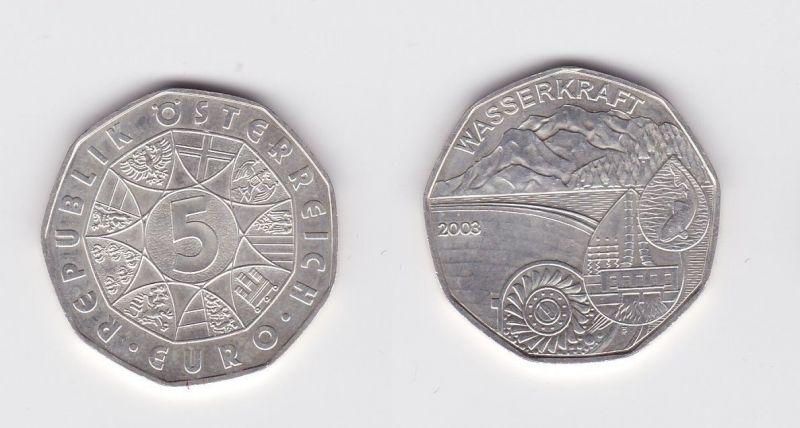 5 Euro Silber Münze österreich 2003 Wasserkraft 119448 Nr