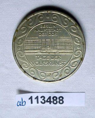 DDR Medaille Berlin Hauptstadt der DDR Tage der Volkskunst (113488)