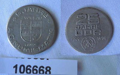 DDR Medaille 5 Jahre Numismatik Zwickau Land 25 Jahre DDR 1974 (106668)
