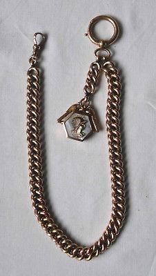 Wunderbare Uhrkette 585er Gold aus der K & K Monarchie um 1890 (114455)