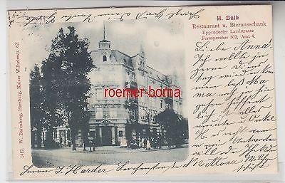 72169 Ak Hamburg Restaurant und Bierausschank Eppendorfer Landstraße 1901