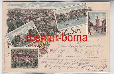 83506 Ak Lithografie Gruss aus Guben 1898