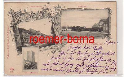 74386 Mehrbild Ak Gruß aus Weferlingen Bäckerstraße usw. 1900