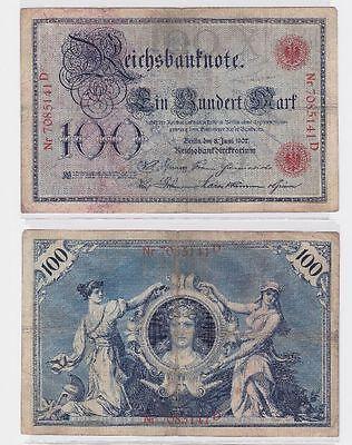 100 Mark Banknote Kaiserreich Deutsches Reich 08.06.1907 (117289)